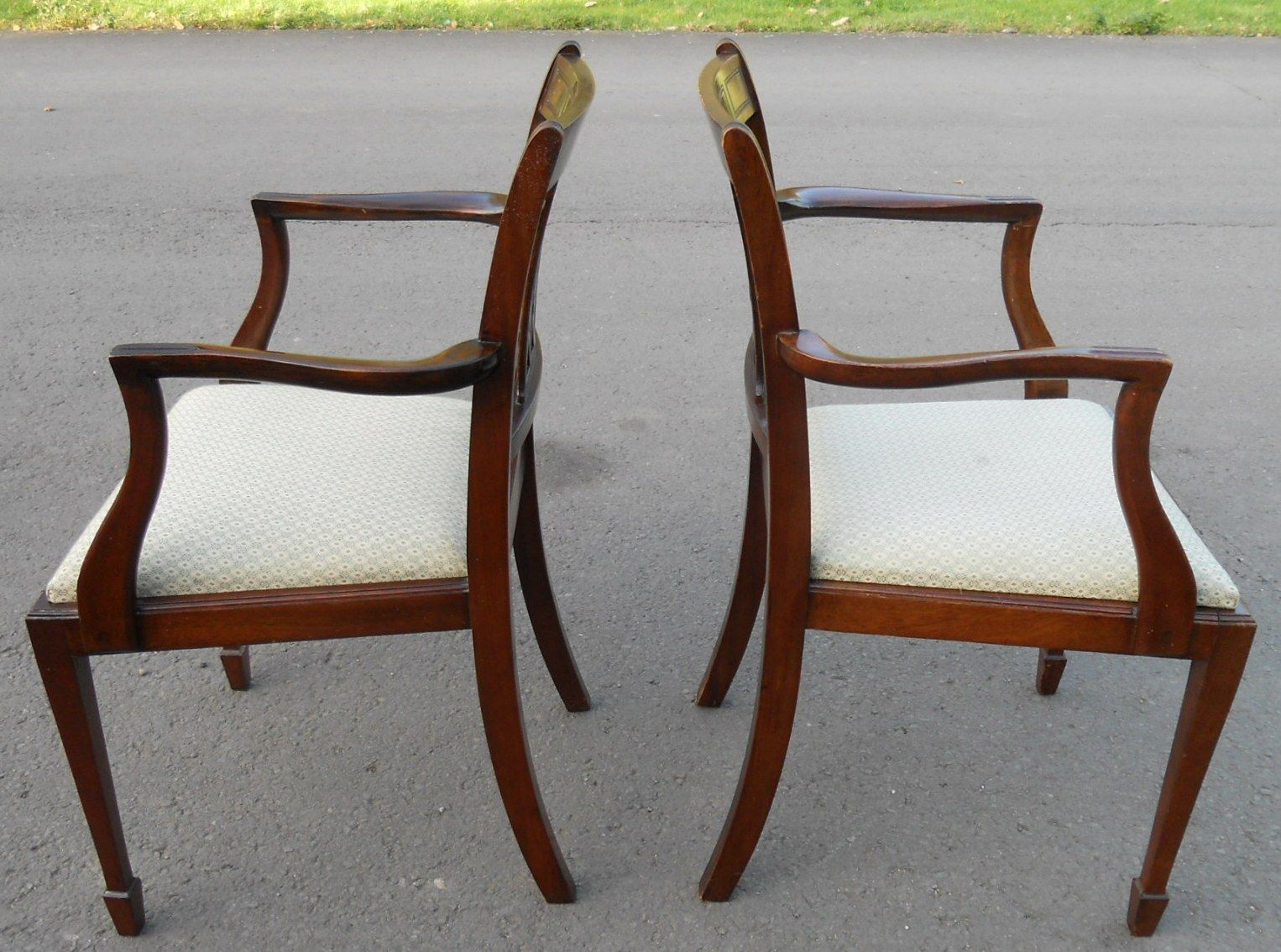 - Set Of Eight Mahogany Antique Style Dining Chairs - SOLD